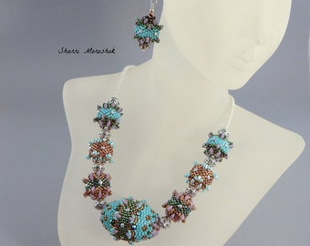 Egg & Thistle beaded bead necklace