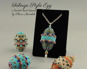 Faberge Style Egg beaded bead tutorial by Sharri Moroshok