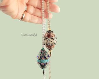Faberge Egg Pendant and Earrings by Sharri Moroshok