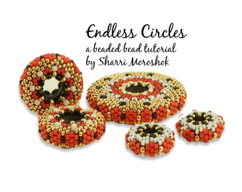 Endless Circles beaded bead tutorial by Sharri Moroshok