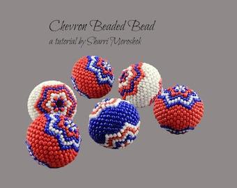 Chevron Beaded Bead tutorial by Sharri Moroshok