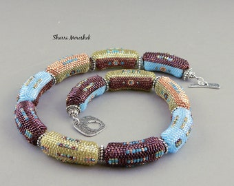 Beaded Bead Necklace set - necklace bangle earrings