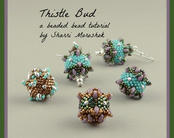 Thistle Bud Beaded Bead tutorial by Sharri Moroshok