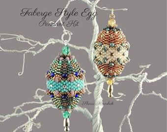 Beading Kit Faberge Style Egg Beaded Pendant / Ornament