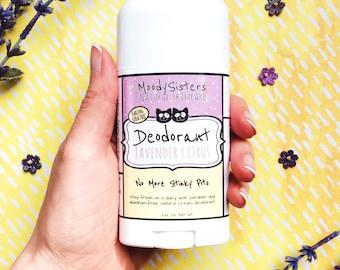 Organic Natural Deodorant - Baking Soda Free Vegan Deodorant - Moody Sisters Lavender Citrus Natural Aluminum Free Deodorant