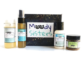 Try Me - Natural Skincare Gift Set for Awesome Women, Moms, Teens with oily or acne prone skin -Fun hippie Skincare Gift Set