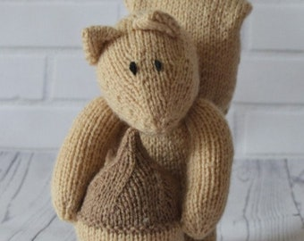 Nutty the Squirrel Knitting Pattern KBP-146