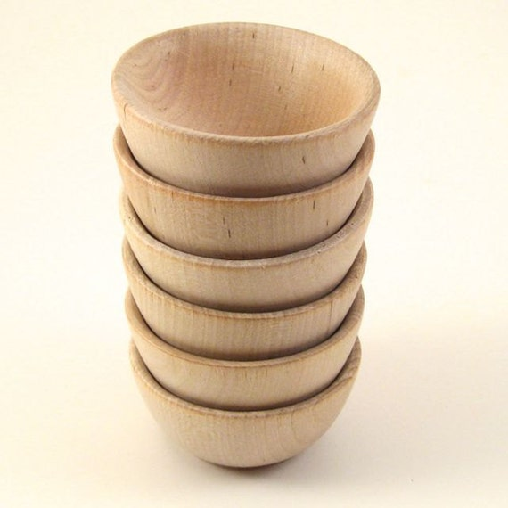 Wood Bowls 6 Small Unfinished Wooden Ring Bowls