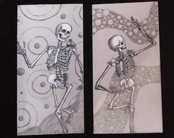 Set of 3 Skeleton and Speedy Stickers