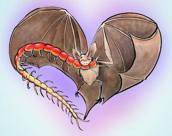 Bat Love Card
