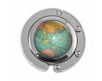 World map umbrella etsy purse hook diaper bag hanger umbrella holder with vintage globe artwork planet earth gumiabroncs Gallery