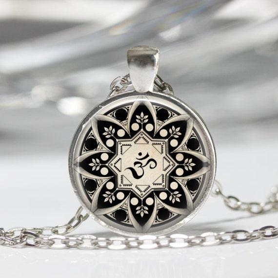 Yoga Jewelry Om Necklace Om Symbol Buddhism Zen Meditation Etsy