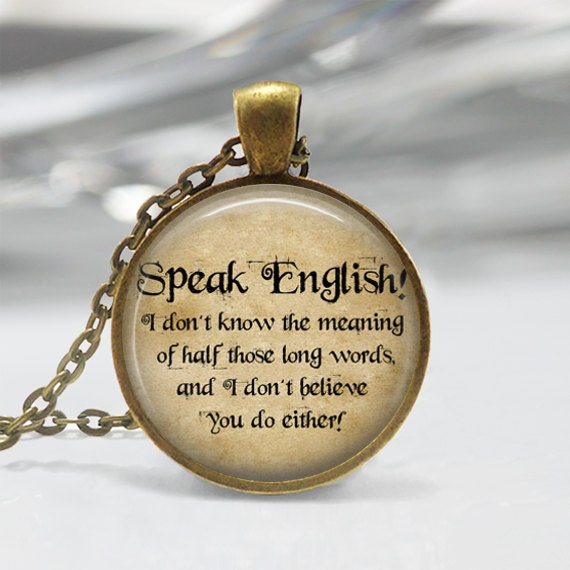 Alice Im Wunderland Kette Sprechen Englisch Zitat Hutmacher Märchen Kunst Anhänger In Bronze Oder Silber Mit Link Kette Enthalten