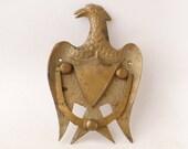 Vintage Eagle Brass Door Knocker - Brass Door Knocker