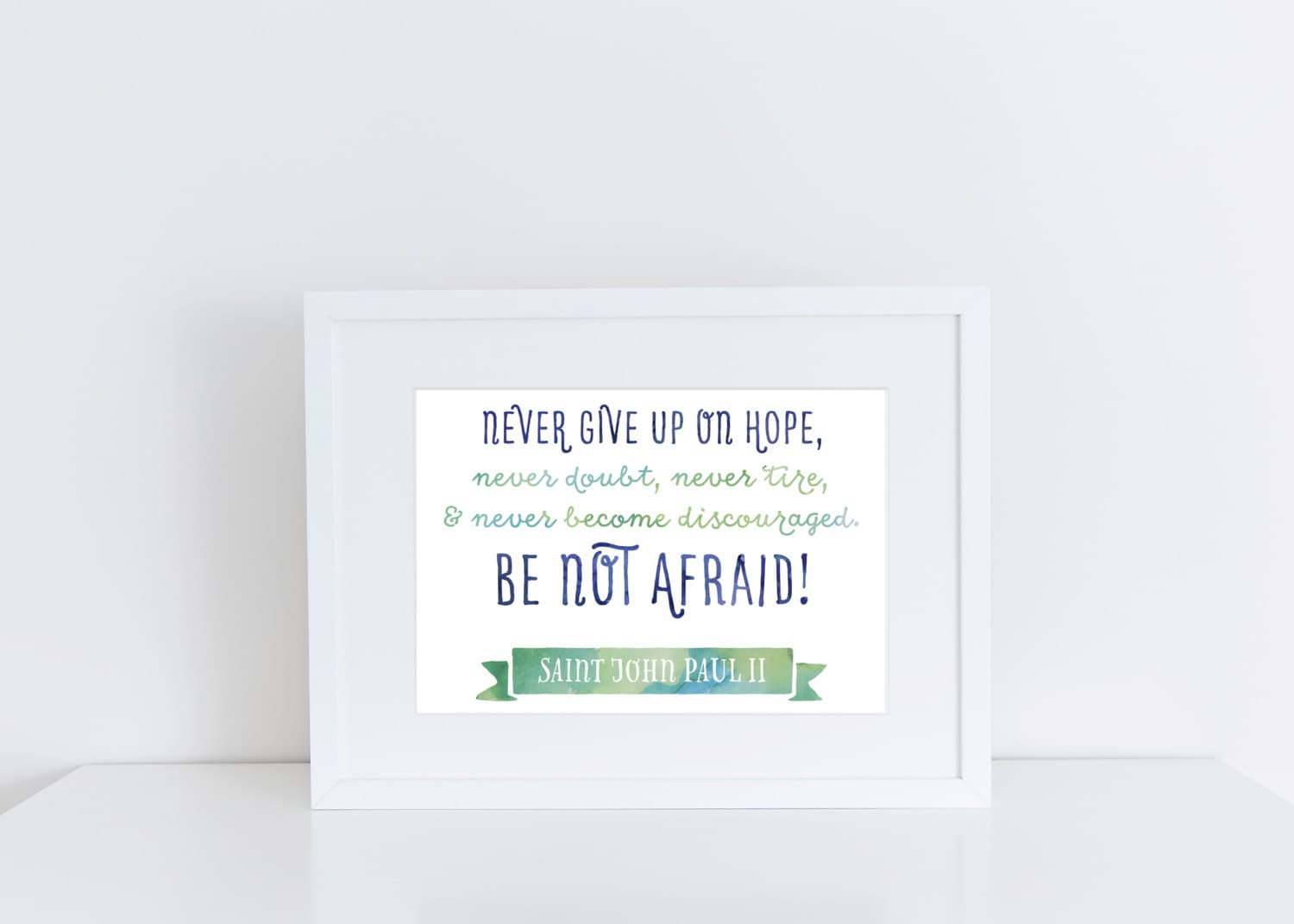 Christmas Grinch Quote 8 X 10 Digital Print Instant By: PRINTABLE 8x10 & 5x7 Never Give Up Printable Catholic Art