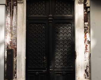 Parisian Door With Sunlight