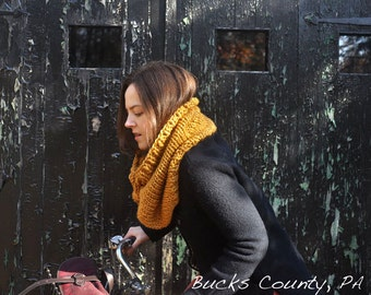 Cowl Infinity Scarf Knitting Pattern - Easy Beginner - Digital Download