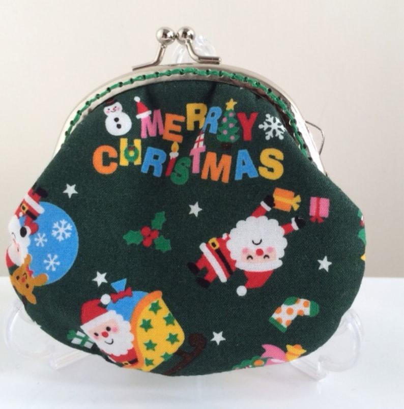 Handmade Coin Purse Santa Claus Merry Christmas P17036 Free Shipping