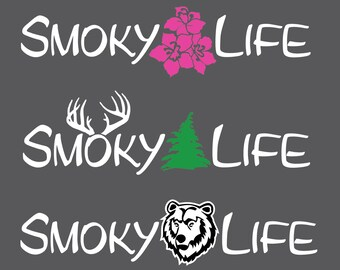 Smoky Life decal / Great Smoky Mountains National Park sticker