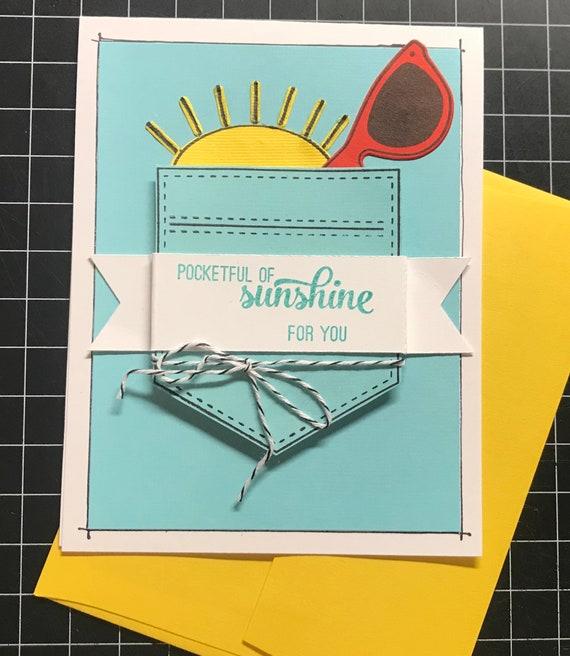 Pocket full of sunshine handmade greeting card m4hsunfo