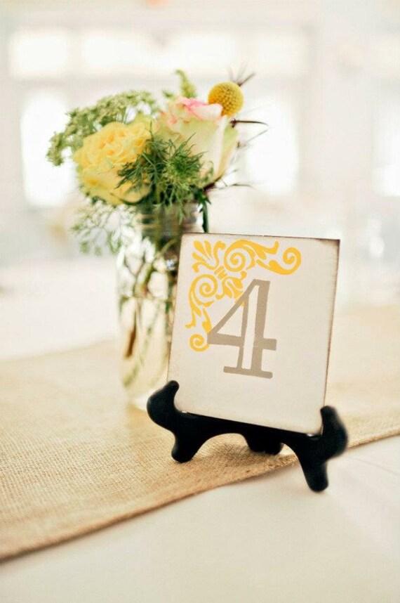 Hochzeit-Zeichen Tabelle Zahlen 1-20 | Etsy