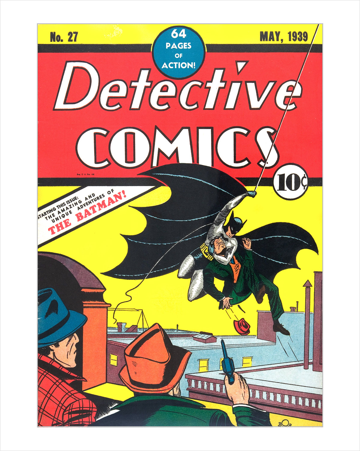 Batman Comic Book Cover art print Detective Comics 27 | Etsy