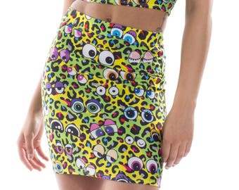 Wild Eyes Mini Skirt