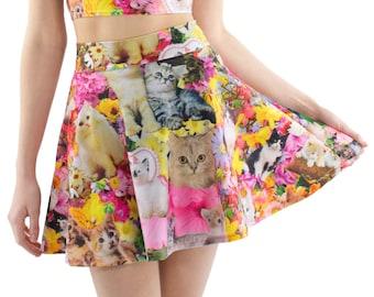Kitty Garden Party Skater Skirt