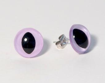 Light Purple Kitty Eye Earrings