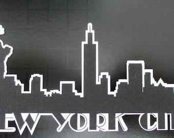 Cityscape New York City Skyline Die Cut Shapes Paper Die Cuts Manhattan, NYC New York Skyline