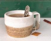 Natural white mug
