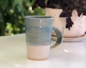 Stoneware blue mug