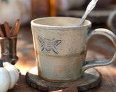 Stoneware bee mug