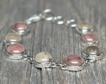 Kona Dolomite - Petoskey - Bracelet - Sterling Silver - Adjustable from 7 1/2 to 8 1/2 inches