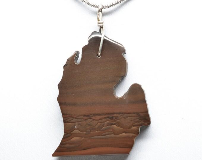 Picture Jasper Michigan Pendant (Lower Penisula)