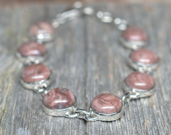 Kona Dolomite Bracelet - Sterling Silver - Adjustable from 7 1/2 to 8 1/2 inches