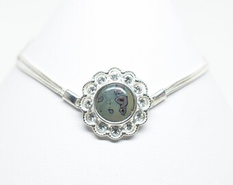 "Frankfort Green Bracelet - Sterling Silver - 10 mm Round - Adjustable from 6 1/2"" to 7 1/2"""