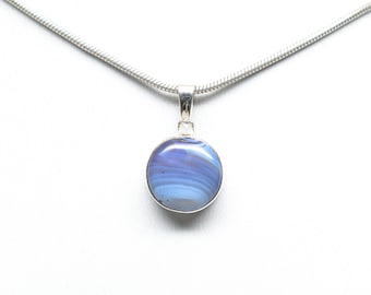 Leland Blue Sterling Silver Circle Pendant - 11mm Stone