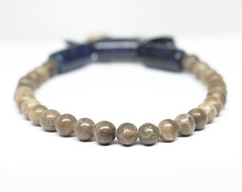 Petoskey Stone Bracelet - Australian Boulder Opal - Adjustable - Fits wrists 5.75 to 6.25 inches in circumference