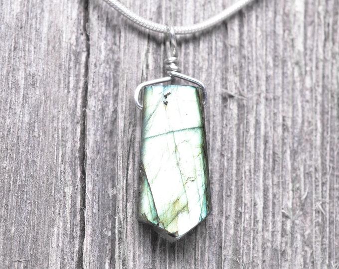 Labradorite Pendant - Sterling Silver