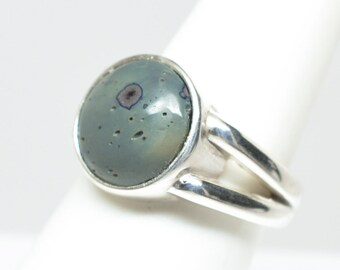 Frankfort Green Ring - Sterling Silver - Size 7