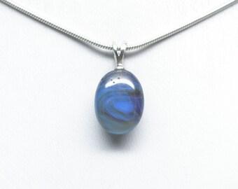 Leland Blue (Pioneer Swirl) Pendant - Sterling Silver - 15mm x 11mm