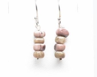 Petoskey Stone - Kona Dolomite - Earrings - Sterling Silver