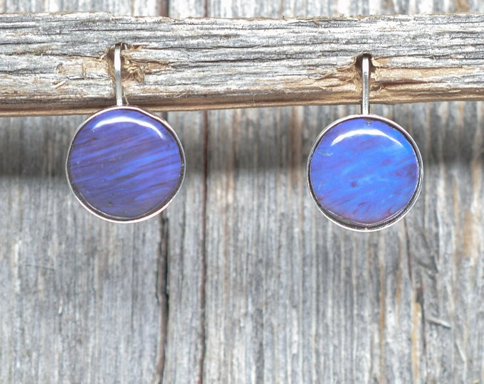 Leland Blue (Pioneer Swirl) Earrings - Sterling Silver - 12mm - Leverback