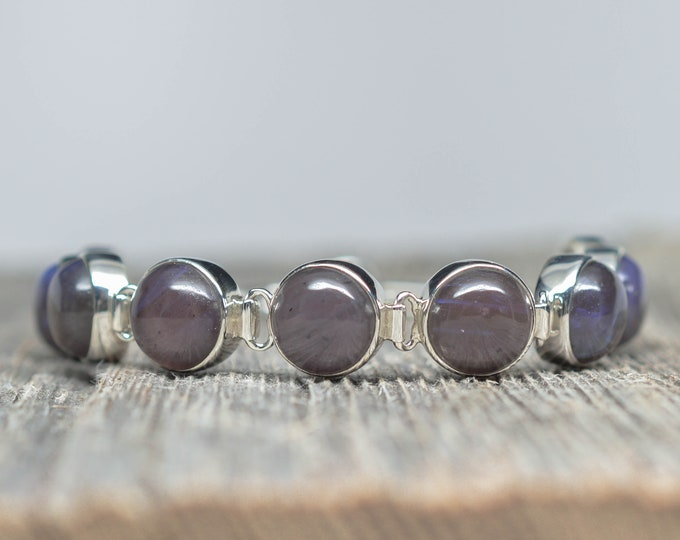 Leland Blue (Pioneer Swirl) Bracelet - Sterling Silver - Adjustable from 6 3/4 to 8 inches