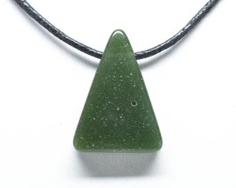 Frankfort Green Pendant - Triangle