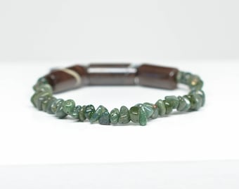Frankfort Green Bracelet - Australian Boulder Opal - Adjustable - Fits wrists 5.25 to 5.75 inches in circumference