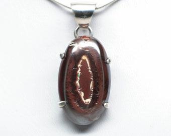 Koroit Boulder Opal Pendant - Sterling Silver - 32mm x 24mm