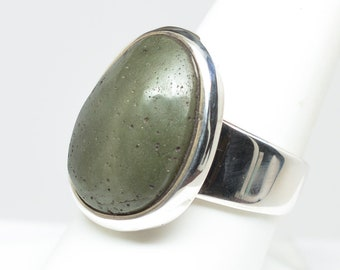 Frankfort Green Ring - Sterling Silver - Size 8.5