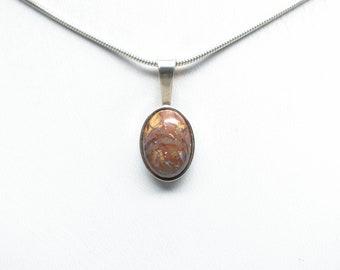 Koroit Boulder Opal Pendant - Sterling Silver - 14mm x 10mm